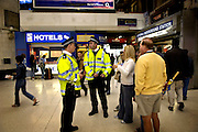 London Victoria Station on Friday July 8, 2005 in London, England. One day after the bombings on three subway trains and one bus in London on Juli 7 2005