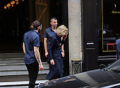 MEG RYAN leaves restaurant in Paris