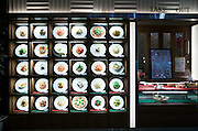 restaurant exterior with a plate display to show the menu