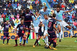"""Foto Filippo Rubin<br /> 01/10/2017 Ferrara (Italia)<br /> Sport Calcio<br /> Spal vs Crotone - Campionato di calcio Serie A 2017/2018 - Stadio """"Paolo Mazza""""<br /> Nella foto: BARTOSZ SALAMON<br /> <br /> Photo Filippo Rubin<br /> October 01, 2017 Ferrara (Italy)<br /> Sport Soccer<br /> Spal vs Crotone - Italian Football Championship League a  2017/2018 - """"Paolo Mazza"""" Stadium <br /> In the pic: BARTOSZ SALAMON"""
