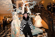JAMES BROWN, Unveiling of the Dior Christmas Tree by John Galliano at Claridge's. London. 1 December 2009