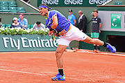 Rafael Nadal (ESP) during the preliminary rounds of the Roland Garros Tennis Open 2017 at  at Roland Garros Stadium, Paris, France on 2 June 2017. Photo by Jon Bromley.