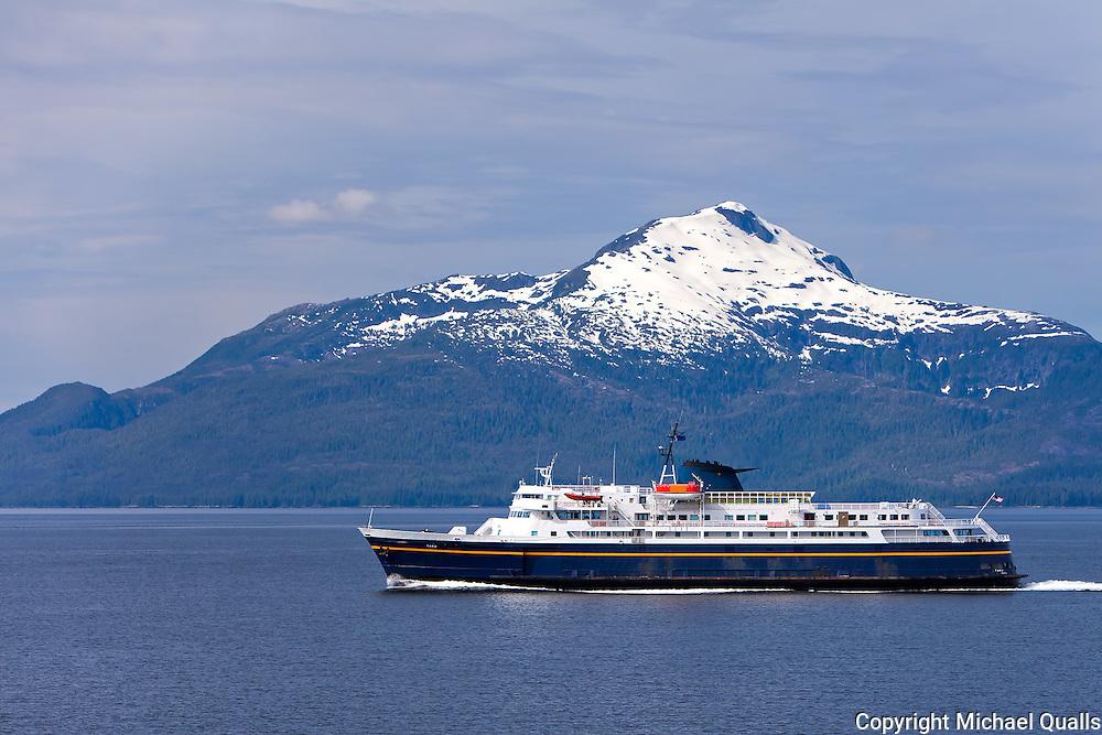 MV Taku, an Alaska Marine Highway ferry motoring south on the Inside Passage.  Alaska.  USA.