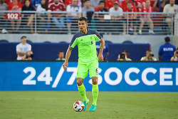 SANTA CLARA, USA - Saturday, July 30, 2016: Liverpool's Dejan Lovren in action against AC Milan during the International Champions Cup 2016 game on day ten of the club's USA Pre-season Tour at the Levi's Stadium. (Pic by David Rawcliffe/Propaganda)