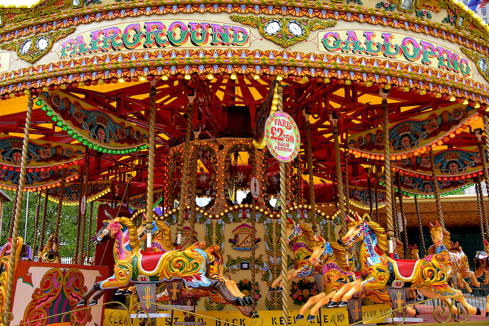 Carousel Among South Bank Attractions in London, England <br />