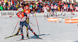 29.01.2017, Casino Arena, Seefeld, AUT, FIS Weltcup Nordische Kombination, Seefeld Triple, Langlauf, im Bild Jan Schmid (NOR), Terence Weber (GER) // Jan Schmid of Norway Terence Weber of Germany during Cross Country Gundersen Race of the FIS Nordic Combined World Cup Seefeld Triple at the Casino Arena in Seefeld, Austria on 2017/01/29. EXPA Pictures © 2017, PhotoCredit: EXPA/ JFK