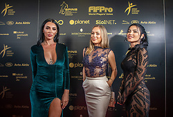 Ula Semole, Katarina Bencek and Svetlana Bilyalova (R) during SPINS XI Nogometna Gala 2019 event when presented best football players of Prva liga Telekom Slovenije in season 2018/19, on May 19, 2019 in Slovene National Theatre Opera and Ballet Ljubljana, Slovenia. ,Photo by Urban Meglic / Sportida