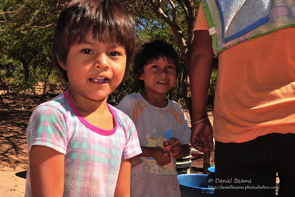 Children in Yapiroa, Charagua, Santa Cruz, Bolivia