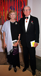 SIR ANTHONY & LADY TENNANT at a dinner <br /> in London on 23rd May 2000.OEL 43