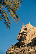Santa Barbara Castle on the summit of Mount Benacantil above the town,Alicante; Costa Blanca; Spain
