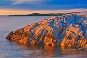 Chedabucto Bay at sunset, Fox Island, Nova Scotia, Canada