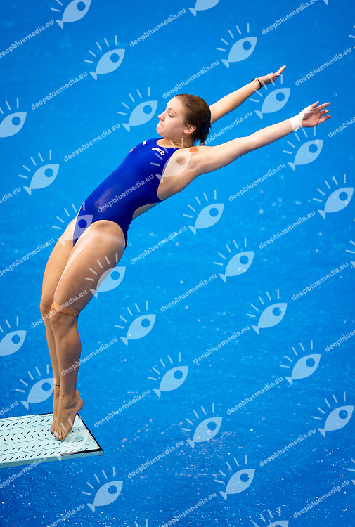 BLAGG Alicia GBR Great Britain<br /> Diving 1 m Springboard Women Preliminary<br /> 32nd LEN European Championships <br /> Berlin, Germany 2014  Aug.13 th - Aug. 24 th<br /> Day08 - Aug. 20<br /> Photo P. Mesiano/Deepbluemedia/Inside