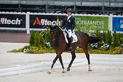 Sandra Karlsson, (SWE), Vouge E - Team Competition Grade Ib Para Dressage - Alltech FEI World Equestrian Games™ 2014 - Normandy, France.<br /> © Hippo Foto Team - Jon Stroud <br /> 25/06/14