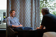 14.08.2015; Zuerich; Fussball Super League - GC; Kim Kallstrom (GC) waehrend eines Interview (Raphael Huenerfauth/freshfocus)