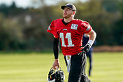Philadelphia Eagles Carson Wentz QB (11) during the press, training and media day for Philadephia Eagles at London Irish Training Ground, Hazelwood Centre, United Kingdom on 26 October 2018. Picture by Jason Brown.