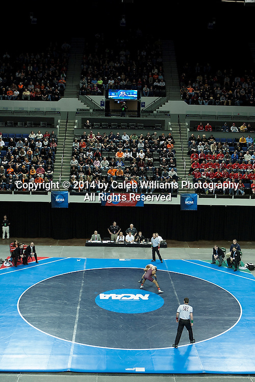 NCAA Division III Wrestling National Championships<br /> Session III<br /> <br /> CEDAR RAPIDS, Iowa (Feb. 15, 2014) -- Action during Session IV of the 2014 Wrestling National Championships at the US Cellular Center in Cedar Rapids, Iowa.