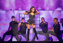 Ariana Grande performs onstage at The SSE Hydro, Glasgow, United Kingdom.