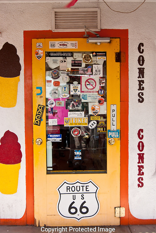 Stop and get a snack at the Snow Cap a nostalgic Route 66 delight in Seligman,Arizona