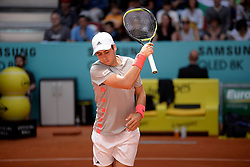 May 6, 2019 - Madrid, Spain - Jaume Munar (SPA) in his match against Karen Jachánov (RUS) during day three of the Mutua Madrid Open at La Caja Magica in Madrid on 6th May, 2019. (Credit Image: © Juan Carlos Lucas/NurPhoto via ZUMA Press)