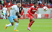 Gavin Tomlin chasing down the ball during the Sky Bet League 1 match between Crawley Town and Coventry City at the Checkatrade.com Stadium, Crawley, England on 3 May 2015. Photo by Michael Hulf.