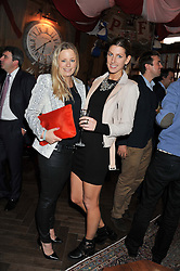 Left to right, ASTRID HARBORD and SUSANNA WARREN at a party to celebrate the launch Mr Fogg's, 15 Bruton Lane, London W1 on 21st May 2013.