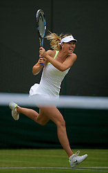 LONDON, ENGLAND - Monday, July 2, 2012: Maria Sharapova (RUS) during the Ladies' Singles 4th Round match on day seven of the Wimbledon Lawn Tennis Championships at the All England Lawn Tennis and Croquet Club. (Pic by David Rawcliffe/Propaganda)