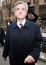 © Licensed to London News Pictures. 02/03/2012. London, UK. Liberal Democrat MP CHRIS HUHNE leaving Southwark Crown Court in London on March 2nd, 2012 where he faced charges of perverting the course of justice. Former Energy Secretary CHRIS HUHNE is accused of asking his ex-wife VICKY PRYCE to take speeding points on his behalf in 2003. Photo credit : Ben Cawthra/LNP