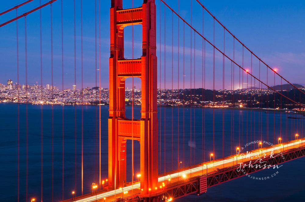 Golden Gate Bridge & San Francisco at night, California