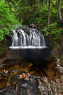 Rolley Creek Falls in Rolley Lake Provincial Park near Mission, British Columbia, Canada