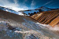 Venting Geothermal hills at Kerlingarfjöll Mountain Range, Interior of Iceland.