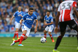 Gareth Evans of Portsmouth in action - Mandatory by-line: Jason Brown/JMP - 06/05/2017 - FOOTBALL - Fratton Park - Portsmouth, England - Portsmouth v Cheltenham Town - Sky Bet League Two