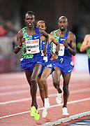 Shadrack Kipchirchir USA) places 14th i the 10,000m in 28:21.26 during the Bauhaus-Galan in a IAAF Diamond League meet at Stockholm Stadium in Stockholm, Sweden on Thursday, May 30, 2019. (Jiro Mochizuki/Image of Sport)