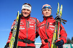 Slovenian cross-country skier Petra Majdic and Cebasek Alenka at 10th OPA - Continental Cup 2008-2009, on January 17, 2009, in Rogla, Slovenia.  (Photo by Vid Ponikvar / Sportida)