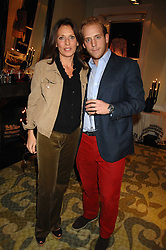 CARLO CARELLO and his mother SARA CARELLO at a party hosted by Allegra Hicks to launch Lapo Elkann's fashion range in London held at Allegra Hicks, 28 Cadogan Place, London on 14th November 2007.<br />