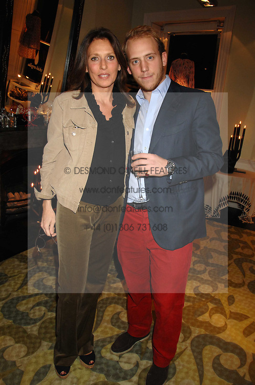 CARLO CARELLO and his mother SARA CARELLO at a party hosted by Allegra Hicks to launch Lapo Elkann's fashion range in London held at Allegra Hicks, 28 Cadogan Place, London on 14th November 2007.<br /><br />NON EXCLUSIVE - WORLD RIGHTS