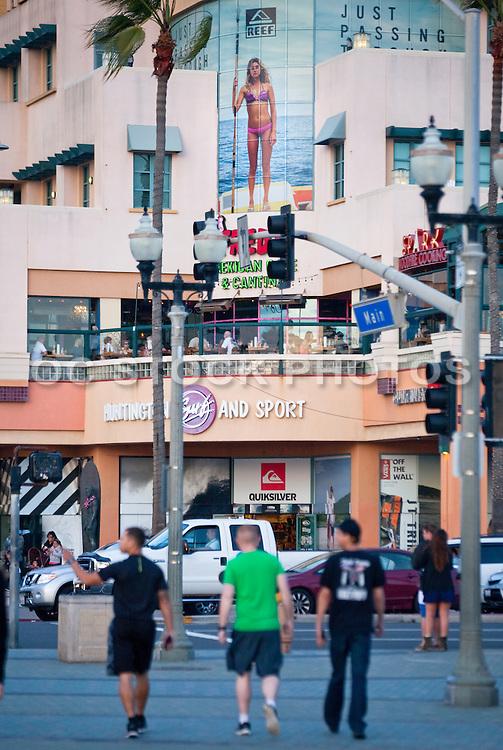 Downtown Huntington Beach at Main Street and PCH