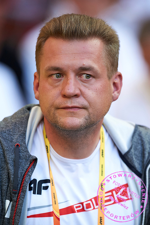 Trainer coach Krzysztof Kaliszewski watching the women's hammer throw competition during the 14th IAAF World Athletics Championships at the Luzhniki stadium in Moscow on August 16, 2013.<br /> <br /> Russian Federation, Moscow, August 16, 2013<br /> <br /> Picture also available in RAW (NEF) or TIFF format on special request.<br /> <br /> For editorial use only. Any commercial or promotional use requires permission.<br /> <br /> Mandatory credit:<br /> Photo by &copy; Adam Nurkiewicz / Mediasport