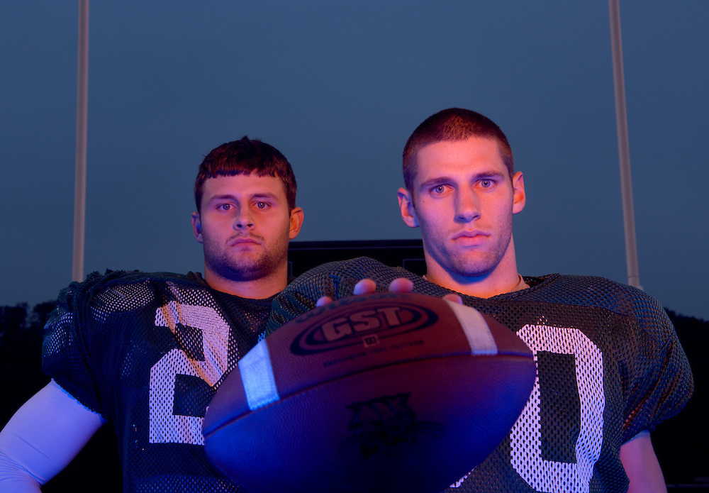 17153Football Portraits: football team siblings -- Spencer and Dustin Tatum --