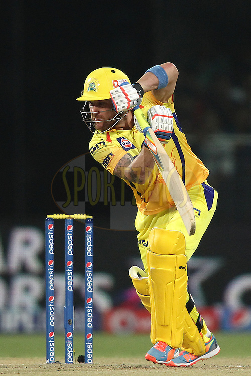 Brendon McCullum of The Chennai Super Kings looks for a run during match 26 of the Pepsi Indian Premier League Season 2014 between the Delhi Daredevils and the Chennai Super Kings held at the Feroze Shah Kotla cricket stadium, Delhi, India on the 5th May  2014<br /> <br /> Photo by Shaun Roy / IPL / SPORTZPICS<br /> <br /> <br /> <br /> Image use subject to terms and conditions which can be found here:  http://sportzpics.photoshelter.com/gallery/Pepsi-IPL-Image-terms-and-conditions/G00004VW1IVJ.gB0/C0000TScjhBM6ikg