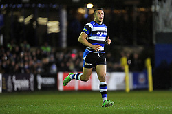 Sam Burgess of Bath Rugby runs onto the field to make his rugby union debut - Photo mandatory by-line: Patrick Khachfe/JMP - Mobile: 07966 386802 28/11/2014 - SPORT - RUGBY UNION - Bath - The Recreation Ground - Bath Rugby v Harlequins - Aviva Premiership