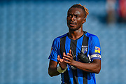 Gillingham FC defender Gabriel Zakuani (6) applauds the fans after the EFL Sky Bet League 1 match between Gillingham and Coventry City at the MEMS Priestfield Stadium, Gillingham, England on 25 August 2018.