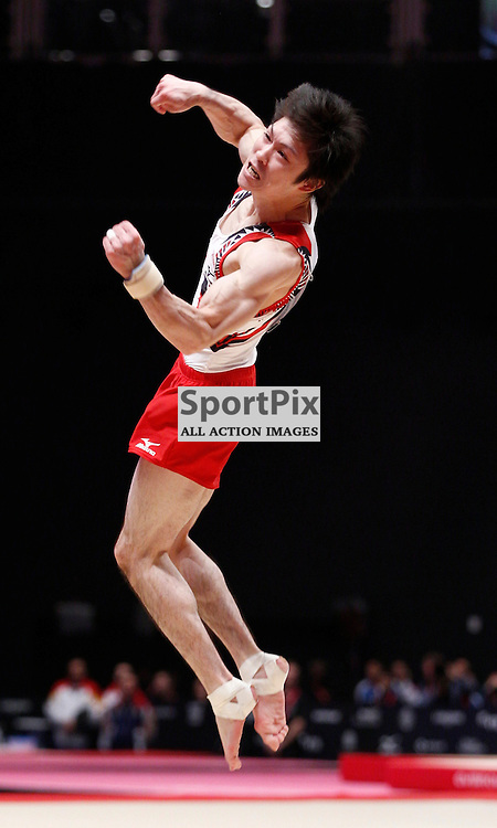 2015 Artistic Gymnastics World Championships being held in Glasgow from 23rd October to 1st November 2015.....Japan's Kohei Uchimura performs in the Floor Exercise routine in the Men's All-Round Final...(c) STEPHEN LAWSON | SportPix.org.uk
