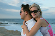 Elisa and Aaron at the beach in Manasquan