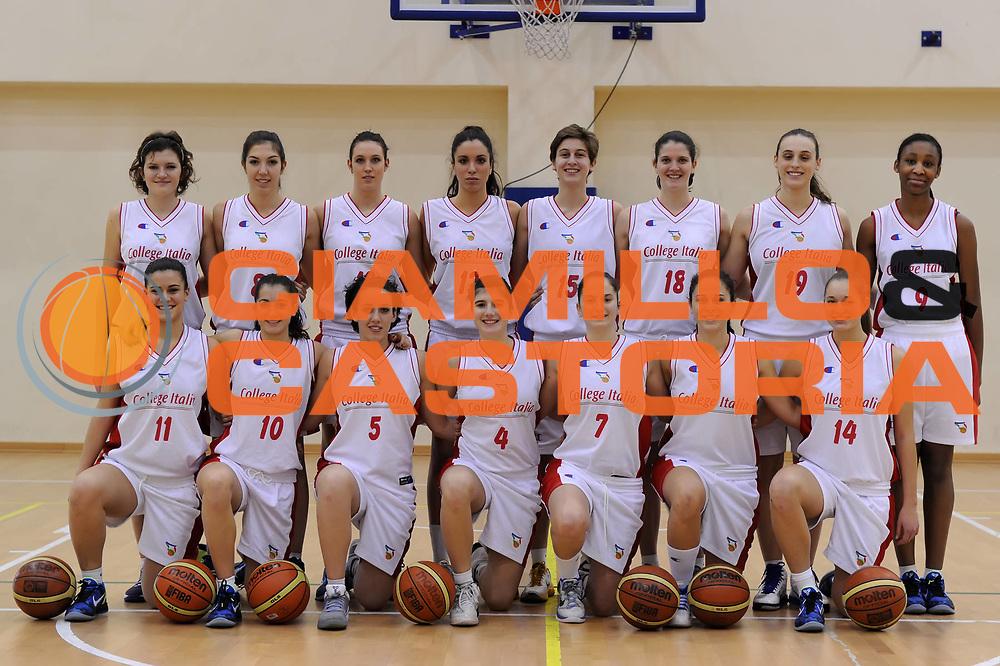 DESCRIZIONE : Roma Acqua Acetosa College Italia<br /> GIOCATORE : foto di squadra<br /> CATEGORIA : ritratto posato<br /> SQUADRA : College Italia FIP<br /> EVENTO : Stagione 2011-2012<br /> GARA : <br /> DATA : 28/11/2011<br /> SPORT : Pallacanestro<br /> AUTORE : Agenzia Ciamillo-Castoria/GiulioCiamillo<br /> Galleria : Fip Nazionali 2011 <br /> Fotonotizia : Roma Acqua Acetosa College Italia
