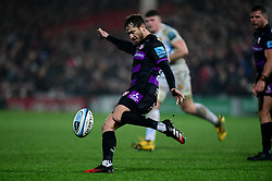 Danny Cipriani of Gloucester Rugby clears the ball - Mandatory by-line: Ryan Hiscott/JMP - 14/02/2020 - RUGBY - Kingsholm - Gloucester, England - Gloucester Rugby v Exeter Chiefs - Gallagher Premiership