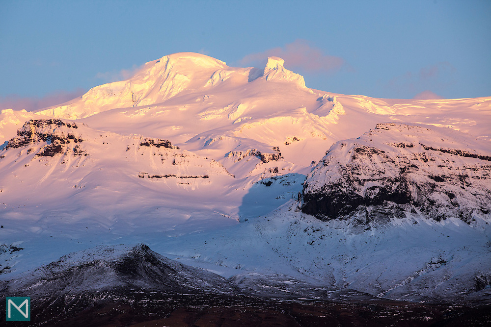 Hvannadalshnjúkur at sunset, Southern Iceland