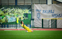 Matej Podlogar od Domzale celebrates after scoring first goal during football match between NK Domzale and NK Celje in 16th Round of Prva liga Telekom Slovenije 2018/19, on November 11, 2018 in Sportni Park, Domzale, Slovenia. Photo by Vid Ponikvar / Sportida