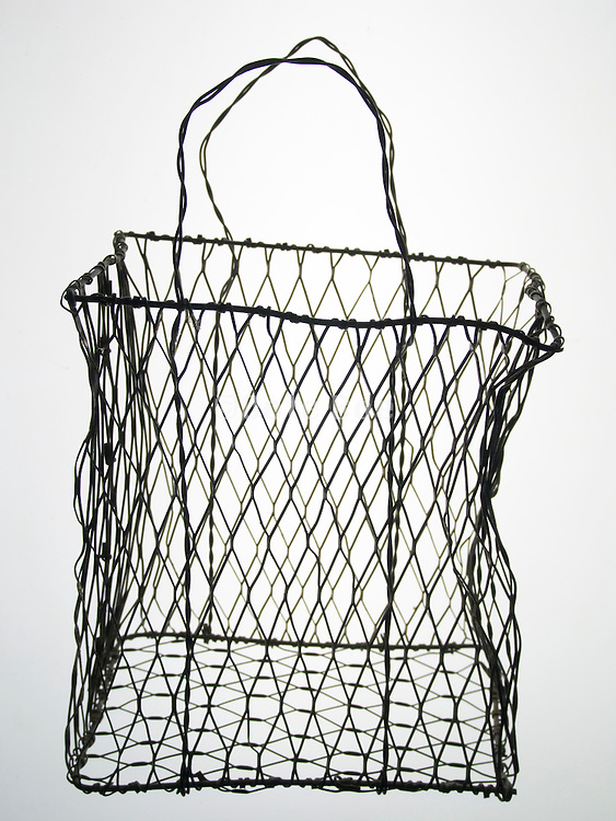 an empty wire basket