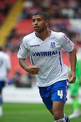 LONDON, ENGLAND - Saturday, October 8, 2011: Tranmere Rovers' Joss Labadie in action against Charlton Athletic during the Football League One match at The Valley. (Pic by Gareth Davies/Propaganda)