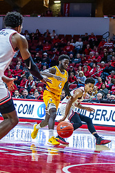 NORMAL, IL - February 15: Zach Copeland makes a no look pass to Keith Fisher III when Daniel Sackey gets too close during a college basketball game between the ISU Redbirds and the Valparaiso Crusaders on February 15 2020 at Redbird Arena in Normal, IL. (Photo by Alan Look)